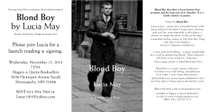 Blond Boy now available at Magers & Quinn